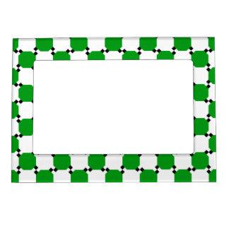 Controles verdes y del blanco foto de imanes