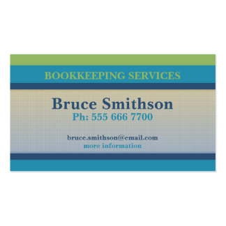 Controles y tarjeta de visita simples del presupue