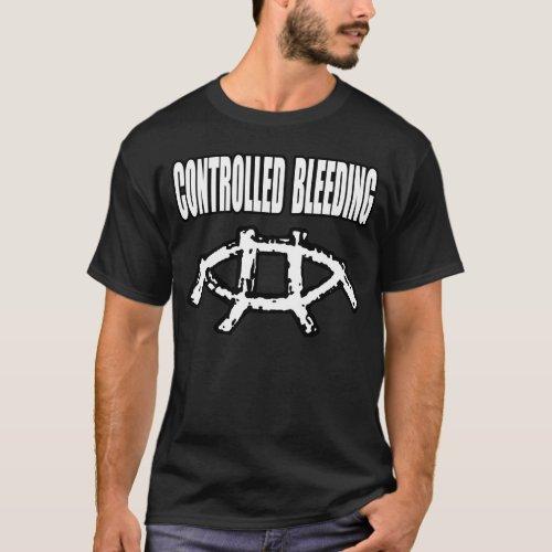 Controlled Bleeding Wax Trax Era 2 Dark Apparel T_Shirt