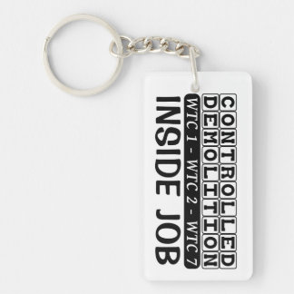 Controlled Demolition WTC Building 7 Inside Job Double-Sided Rectangular Acrylic Keychain