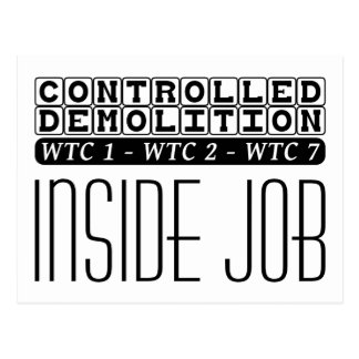 Controlled Demolition WTC Building 7 Inside Job Postcard