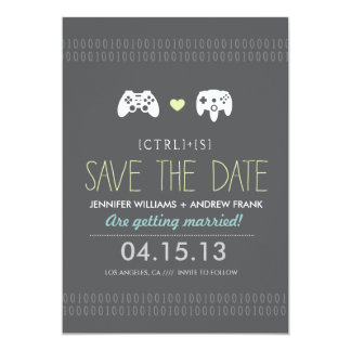 Controller Love Save the Date 5x7 Paper Invitation Card