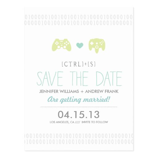 Controller Love Save the Date Post Card