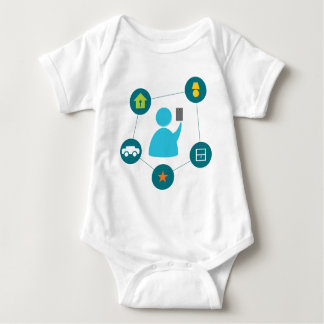 Controlling Home with Smartphone Baby Bodysuit