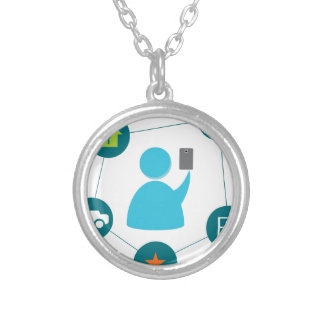 Controlling Home with Smartphone Round Pendant Necklace