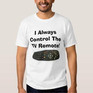 ¡Controlo siempre el telecontrol de la TV! Poleras