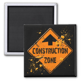 CONTRUCTION ZONE ROAD SIGN MAGNET