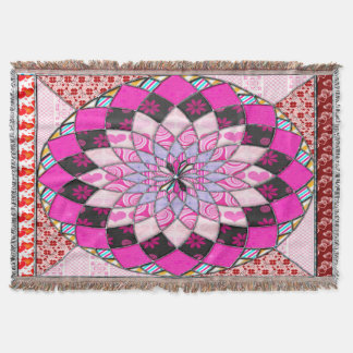 contry style patchwork retro manta