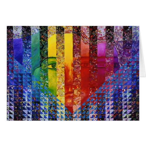 Conundrum I – Abstract Rainbow Woman Goddess