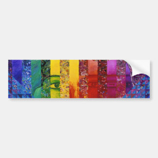 Conundrum I – Abstract Rainbow Woman Goddess Bumper Sticker
