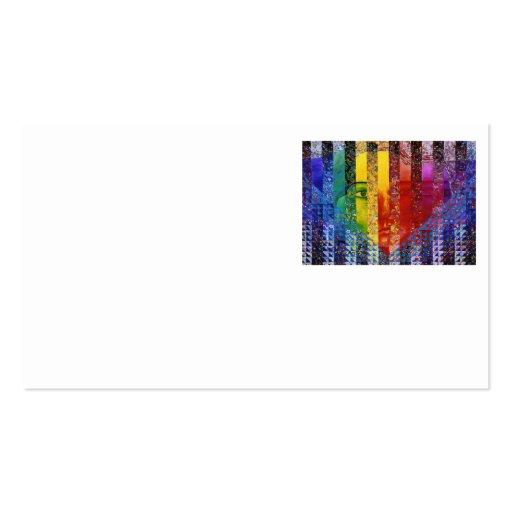 Conundrum I – Abstract Rainbow Woman Goddess Business Card Templates