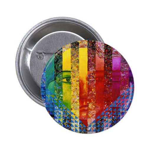 Conundrum I – Abstract Rainbow Woman Goddess 2 Inch Round Button