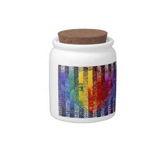 Conundrum I – Abstract Rainbow Woman Goddess Candy Jars