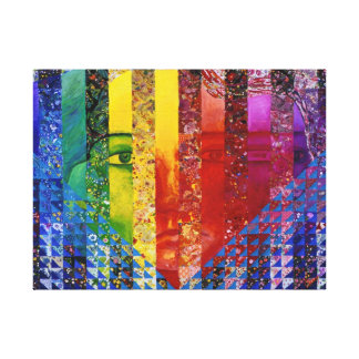 Conundrum I – Abstract Rainbow Woman Goddess Gallery Wrapped Canvas