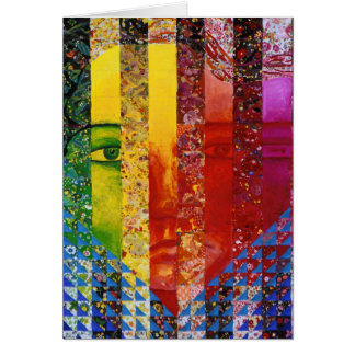 Conundrum I – Abstract Rainbow Woman Goddess Greeting Cards
