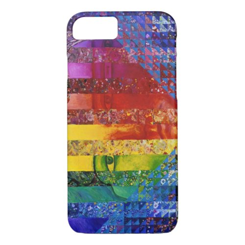 Conundrum I – Abstract Rainbow Woman Goddess iPhone 8/7 Case