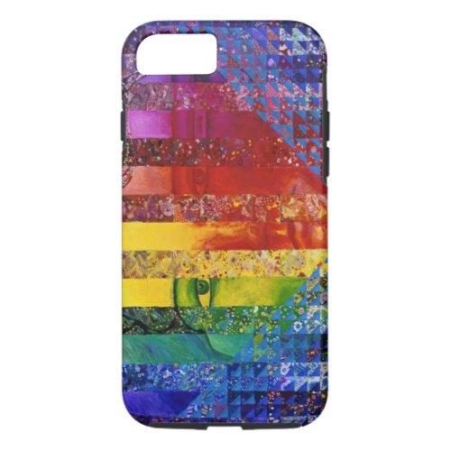 Conundrum I – Abstract Rainbow Woman Goddess iPhone 8/7 Case