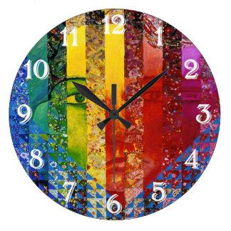 Conundrum I –Abstract Rainbow Woman Goddess Wall Clocks