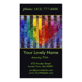 Conundrum I Abstract Rainbow Woman Goddess Collage Double-Sided Standard Business Cards (Pack Of 100)