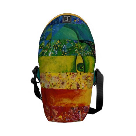 Conundrum I – Abstract Rainbow Woman Goddess Courier Bag