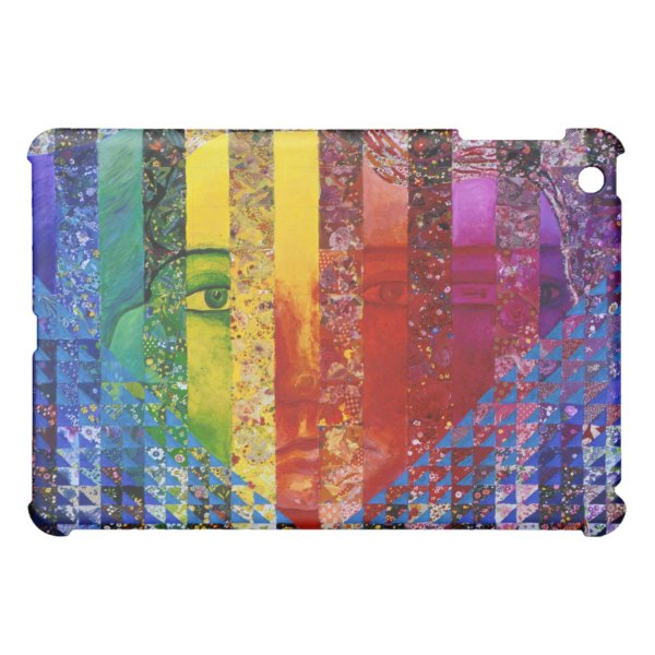 Conundrum I – Abstract Rainbow Woman Goddess Cover For The iPad Mini
