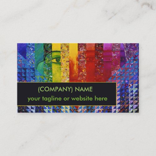 Conundrum I, Abstract Rainbow Woman Goddess Face Business Card