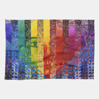 Conundrum I – Abstract Rainbow Woman Goddess Hand Towel