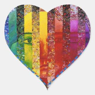 Conundrum I – Abstract Rainbow Woman Goddess Heart Sticker