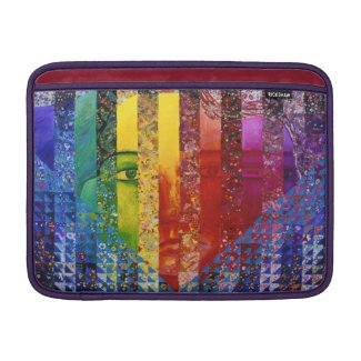 Conundrum I – Abstract Rainbow Woman Goddess Sleeve For MacBook Air
