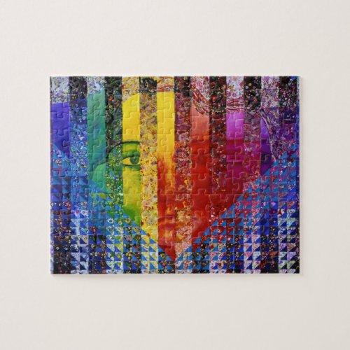 Conundrum I – Abstract Rainbow Woman Goddess Jigsaw Puzzle