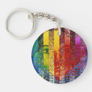 Conundrum I –Abstract Rainbow Woman Goddess Acrylic Keychain
