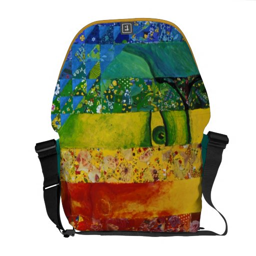 Conundrum I – Abstract Rainbow Woman Goddess Messenger Bag