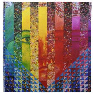 Conundrum I – Abstract Rainbow Woman Goddess Printed Napkin