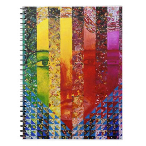 Conundrum I – Abstract Rainbow Woman Goddess Notebook