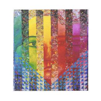 Conundrum I – Abstract Rainbow Woman Goddess Memo Note Pad