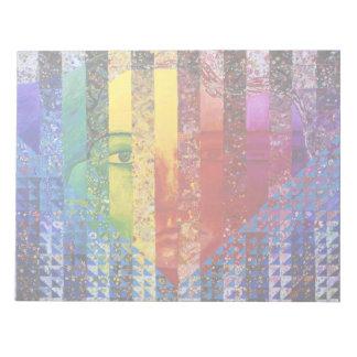 Conundrum I – Abstract Rainbow Woman Goddess Notepads