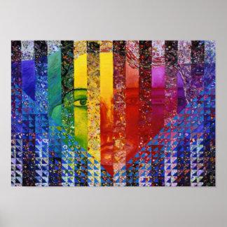 Conundrum I – Abstract Rainbow Woman Goddess Poster