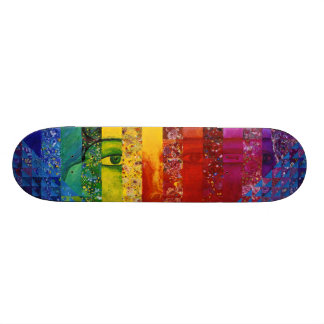 Conundrum I – Abstract Rainbow Woman Goddess Skateboard Deck