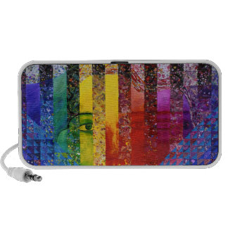 Conundrum I – Abstract Rainbow Woman Goddess Mini Speakers