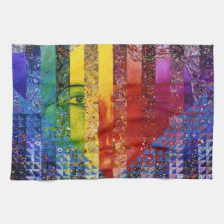Conundrum I – Abstract Rainbow Woman Goddess Towel