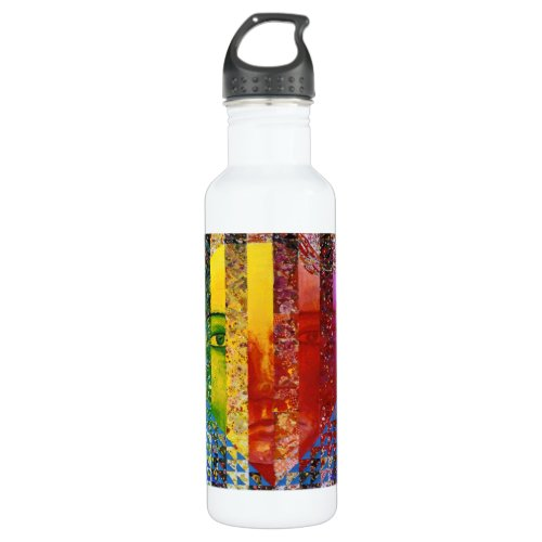 Conundrum I – Abstract Rainbow Woman Goddess Water Bottle