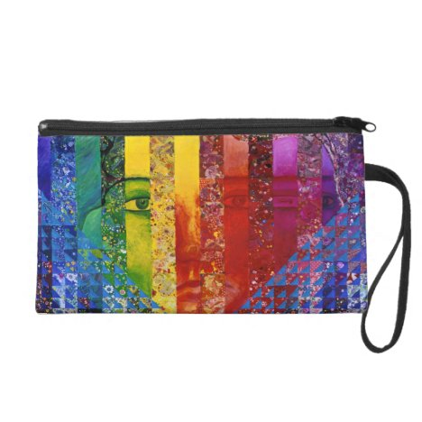 Conundrum I –Abstract Rainbow Woman Goddess Wristlet Purse