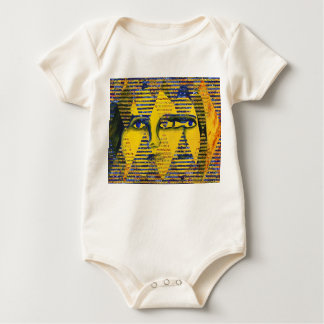 Conundrum II – Abstract Golden & Sapphire Goddess Baby Bodysuit