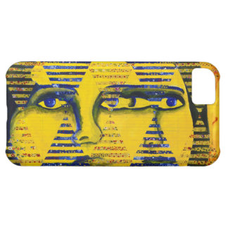 Conundrum II – Abstract Golden & Sapphire Goddess Cover For iPhone 5C