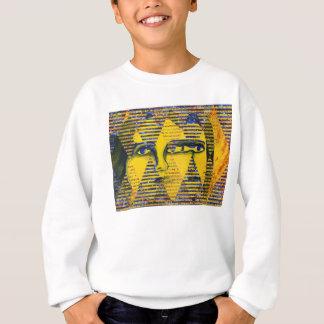 Conundrum II – Abstract Golden & Sapphire Goddess Sweatshirt
