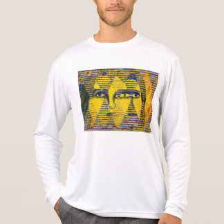 Conundrum II – Abstract Golden & Sapphire Goddess T-Shirt