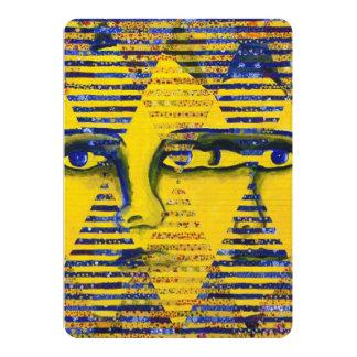 Conundrum II, Golden Sapphire Goddess Abstract Card