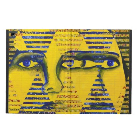 Conundrum II, Golden Sapphire Goddess Abstract iPad Air Cover