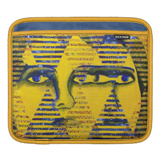 Conundrum II, Golden Sapphire Goddess Abstract Sleeves For iPads