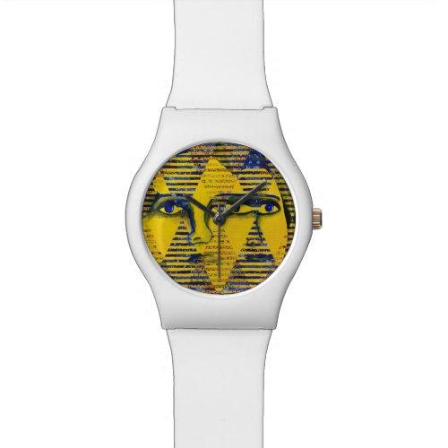 Conundrum II, Golden Sapphire Goddess Abstract Wrist Watch